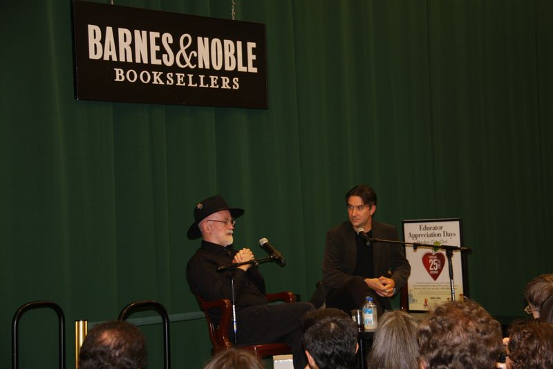 Terry pratchett and rob wilkins